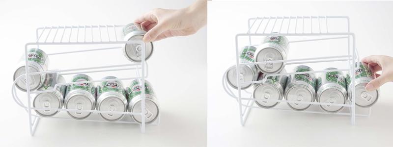 上にも置ける 缶ストッカー