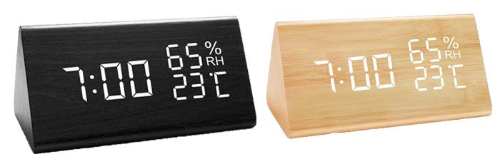 【JOYNOTE】目覚まし時計 木製